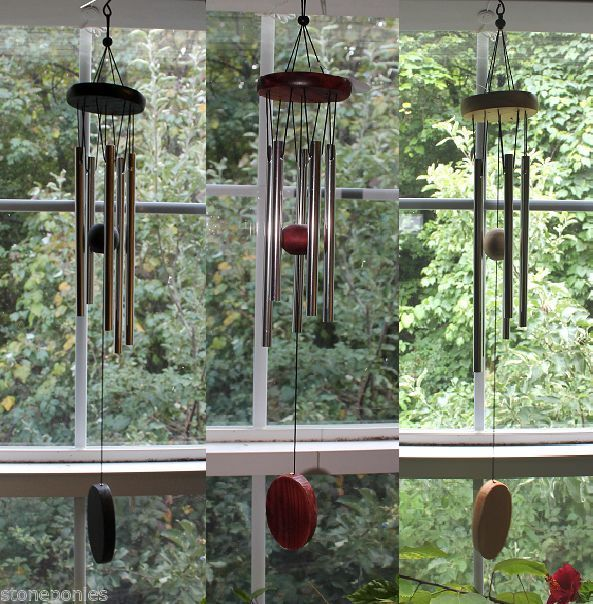 Primary image for Small Wind Chimes Wood and 5 Tube Windchimes Nice Sounds - Choice of Color