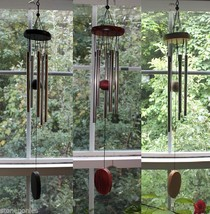 Small Wind Chimes Wood and 5 Tube Windchimes Nice Sounds - Choice of Color  - $8.00