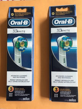 6 Pcs ORAL-B 3D White Toothbrush Replacement Heads Free Shipping - $13.50