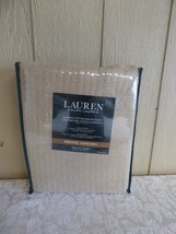 $90.00 Lauren by Ralph Lauren Classic Cotton Bed Blanket Twin Size, Taupe - $27.72