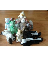 Lot of 14 Beanie Babies with Tags including 1993 Patti Platypus - Retired - $23.75
