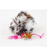 Pom Pom Phone Charm Dust Plug with Rabbit Figurine, Larme Kei, Kawaii - $20.00