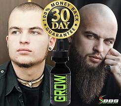 GROW Maximum XXL Beard Growth & Mustache Accelerator - #1 Formula Serum Oil Worl image 6