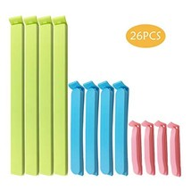 26Pcs Plastic Sealing Clips for Food and Snack Bags by YINGFENG, 3-4.5 -... - $19.41