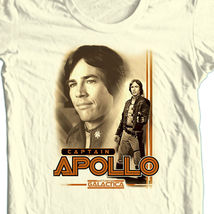 Battlestar galactica tshirt captain apollo white graphic tee original tv series 70 s thumb200