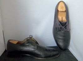 Johnston & Murphy - Men's Black Leather Wing Tip Oxfords Shoes -- Size 9.5M - $39.95