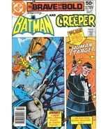 Brave and the Bold Comic Book #143 Batman and the Creeper DC 1978 VERY F... - $5.48