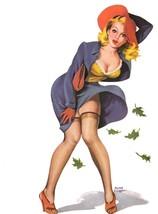 American Pinups: Flirt - Sassy Blonde Girl Blown in Wind - Driben - 1950 - $12.95+