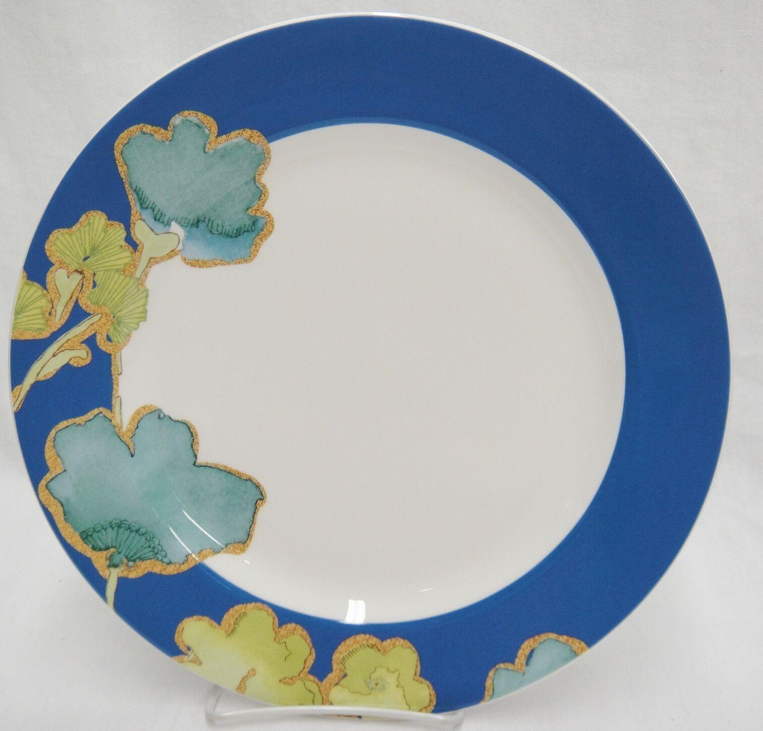 "Lenox Floral Fusion 11.5"" Dinner Chop Plate by Stephanie Ryan Blue Rim New"