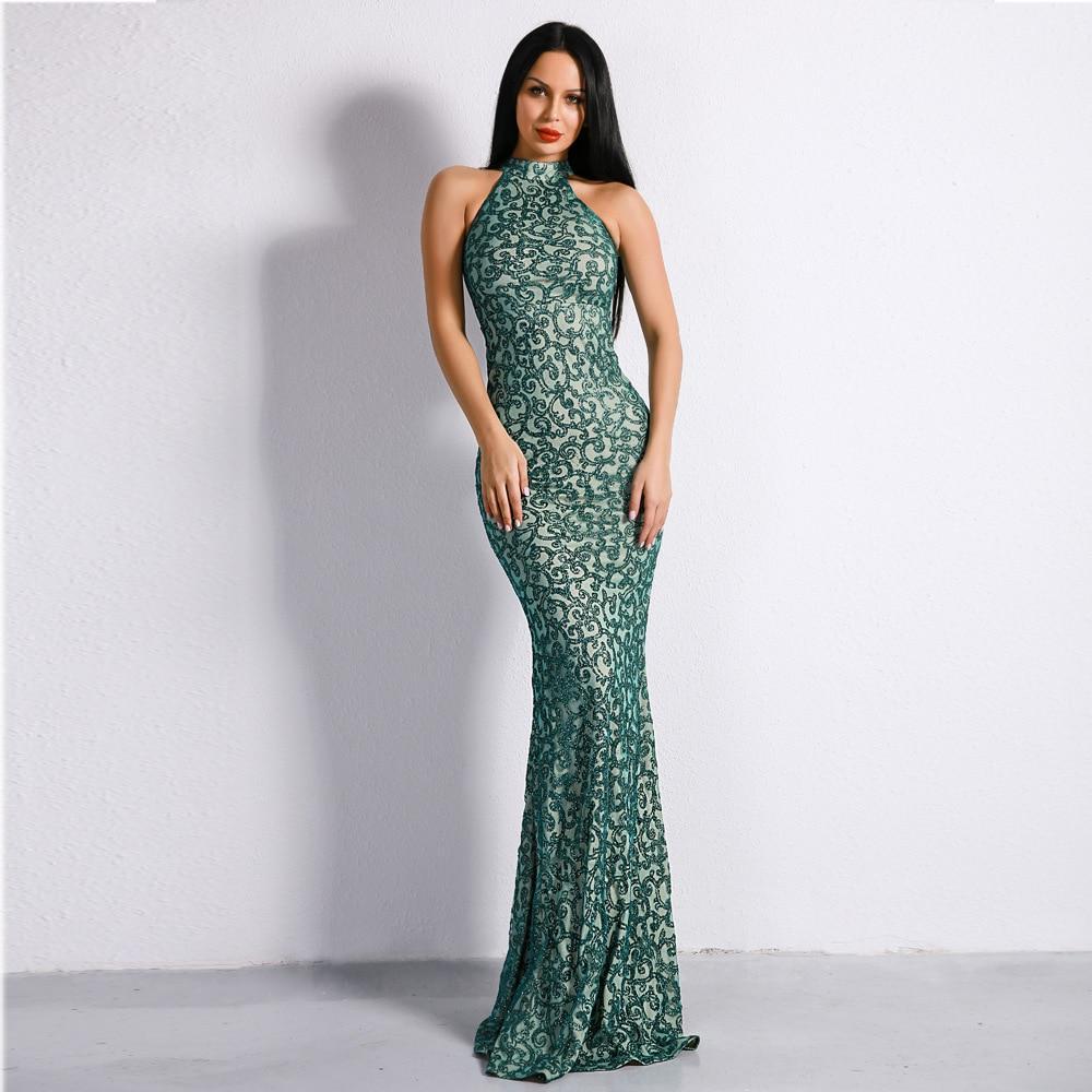 dress celebrity vintage o neck sexy sleeveless women flash sequined elegant night club body con