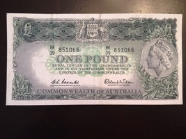 Reproduction Commonwealth Of Australia £1 1960 One Pound Note Queen Elizabeth II - $2.96