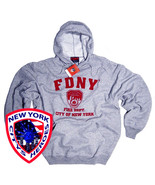 FDNY Shirt Hoodie Sweatshirt Officially Licensed by The New York City Fi... - $38.49