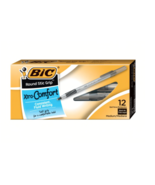 NEW Bic Round Stic Ballpoint Medium Point Xtra Comfort Grip Black Pen Bo... - $6.55