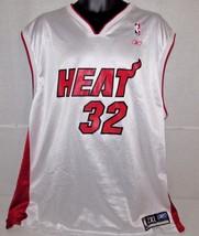 Reebok Shaquille O'Neal Size 2XL Mens White #32 Miami Heat Jersey  XXL Shaq - $37.13