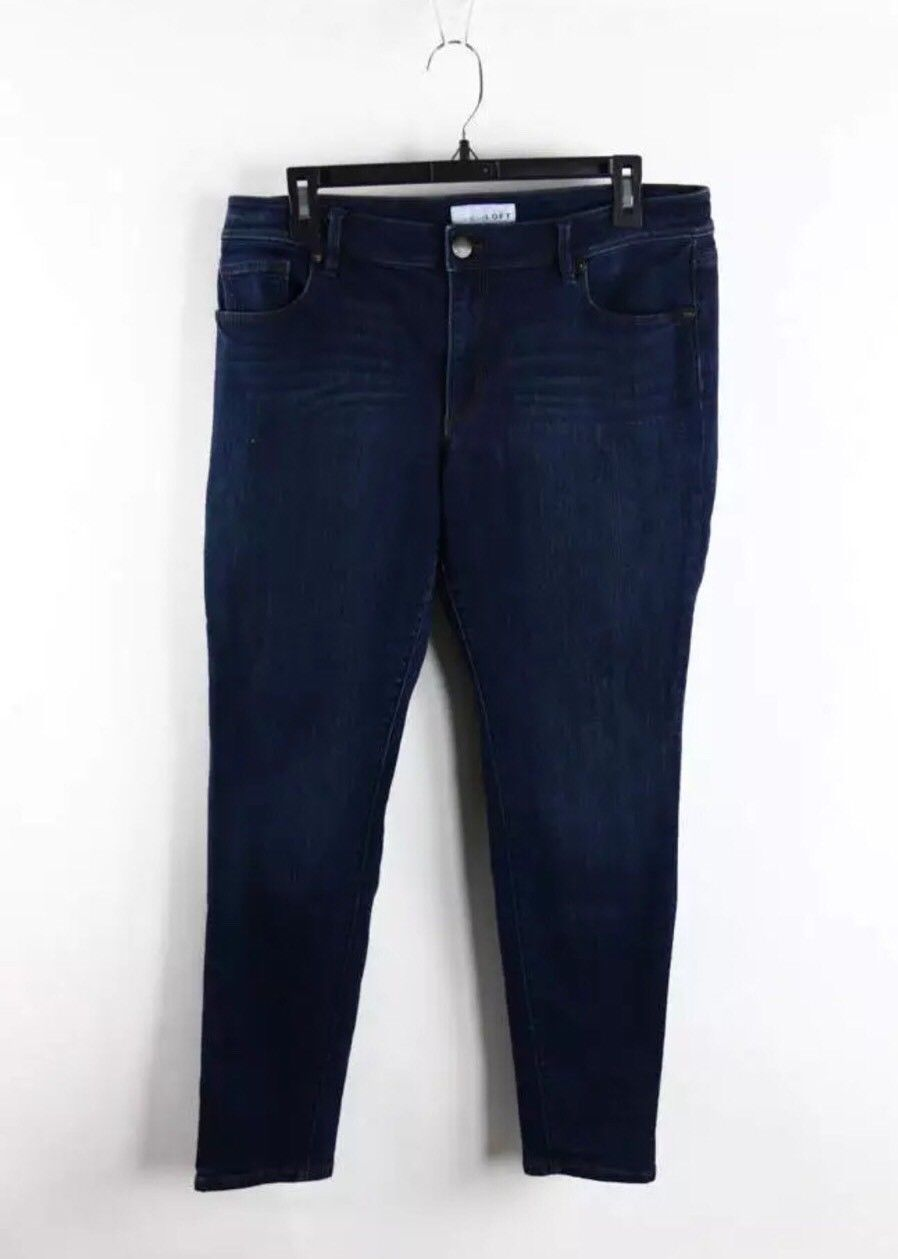 Ann Taylor LOFT Dark Blue Denim 5-Pocket Skinny Leg Jeans 10/11