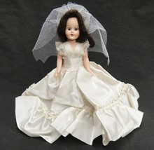"""Vintage Wedding Bride Doll 8"""" Hard Plastic Jointed Arms Frozen Legs Slee... - $9.89"""