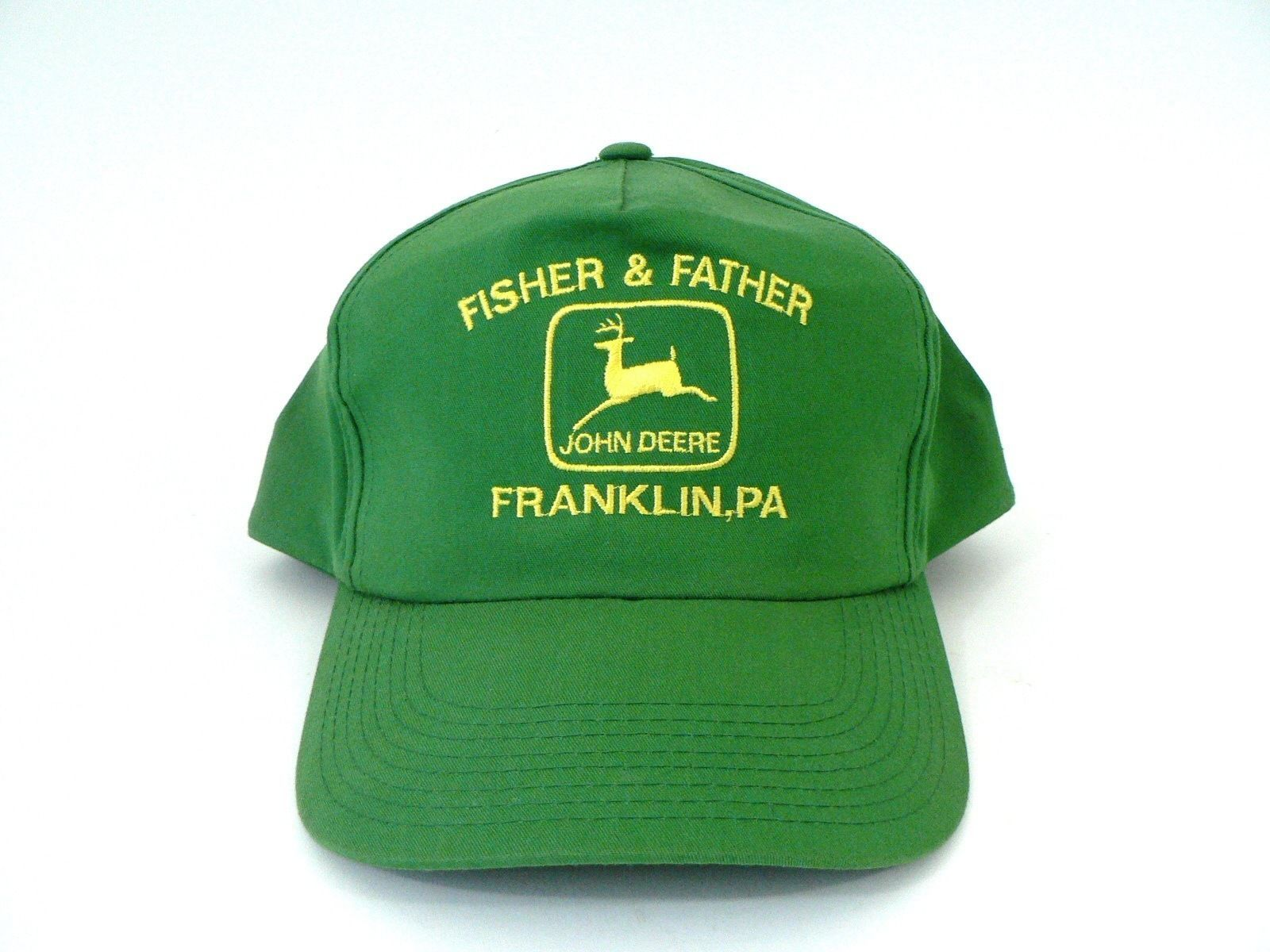 55a3e37806e1b S l1600. S l1600. Previous. VTG Green Yellow John Deere Snapback Baseball  Hat Cap Fisher Father Franklin PA