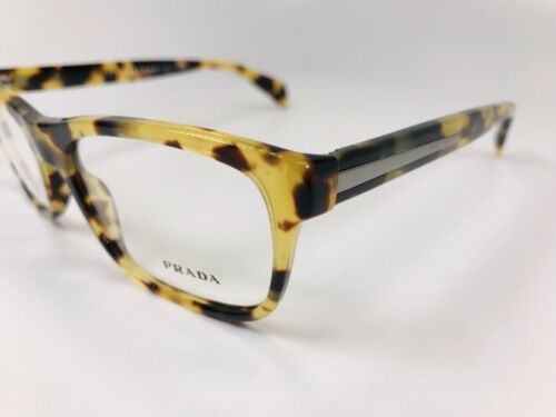 ✳ New Authentic Prada VPR 19P 7S0-101 Havana Eyeglasses 53mm with Case & Cloth
