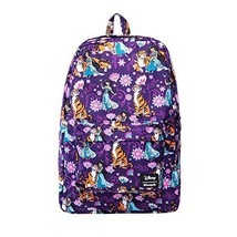 Loungefly Disney's Aladdin- Jasmine and Rajah Print Backpack Standard - $56.43