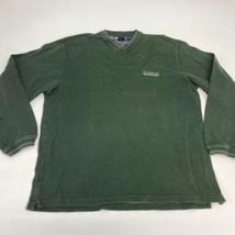 Vintage Chaps Ralph Lauren T Shirt Men's Large Long Sleeve Green V Neck ... - $17.99