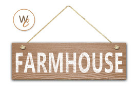 "FARMHOUSE Sign, 5.5"" x 17"" Wood Sign, Rustic Cafe Home Decor, Kitchen Decor - $20.25"