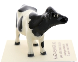 Hagen-Renaker Miniature Ceramic Cow Figurine Holstein Bull Cow and Calf Set image 8