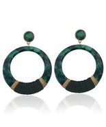 by MODERN Formica Dangle Statement Earrings for Women Green - $15.03