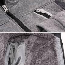 Boys Juniors Athletic Hoodie Sherpa Lined Kids Toddler Sweater Zipper Jacket image 7