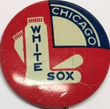 1950s Vintage Chicago White Sox Illinois Baseball 1 Inch Pin Pinback MLB - $14.80