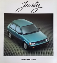 1991 Subaru JUSTY sales brochure catalog US 91 GL AWD - $8.00