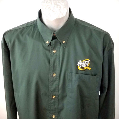 b58889a9 Quaker State Oil Button Mens Green XL Shirt and 50 similar items