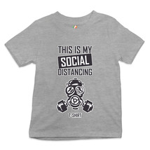 This Is My Social Distancing T-Shirt Youth T-shirt Quarantine Gas Mask Kids - $13.73+