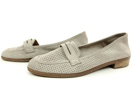 Lucky Brand Women's Caylon Suede Slip On Penny Loafer Shoes Size 8 Taupe - $29.95