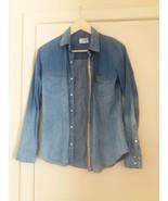 Jolt Women Denim Top Shirt Pearl Snap Size XS - $12.13