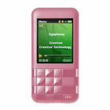 Creative ZEN Mozaic EZ300 Pink 2 GB MP3 Player FM Rad Voice Rec Built-In Speaker - $89.10