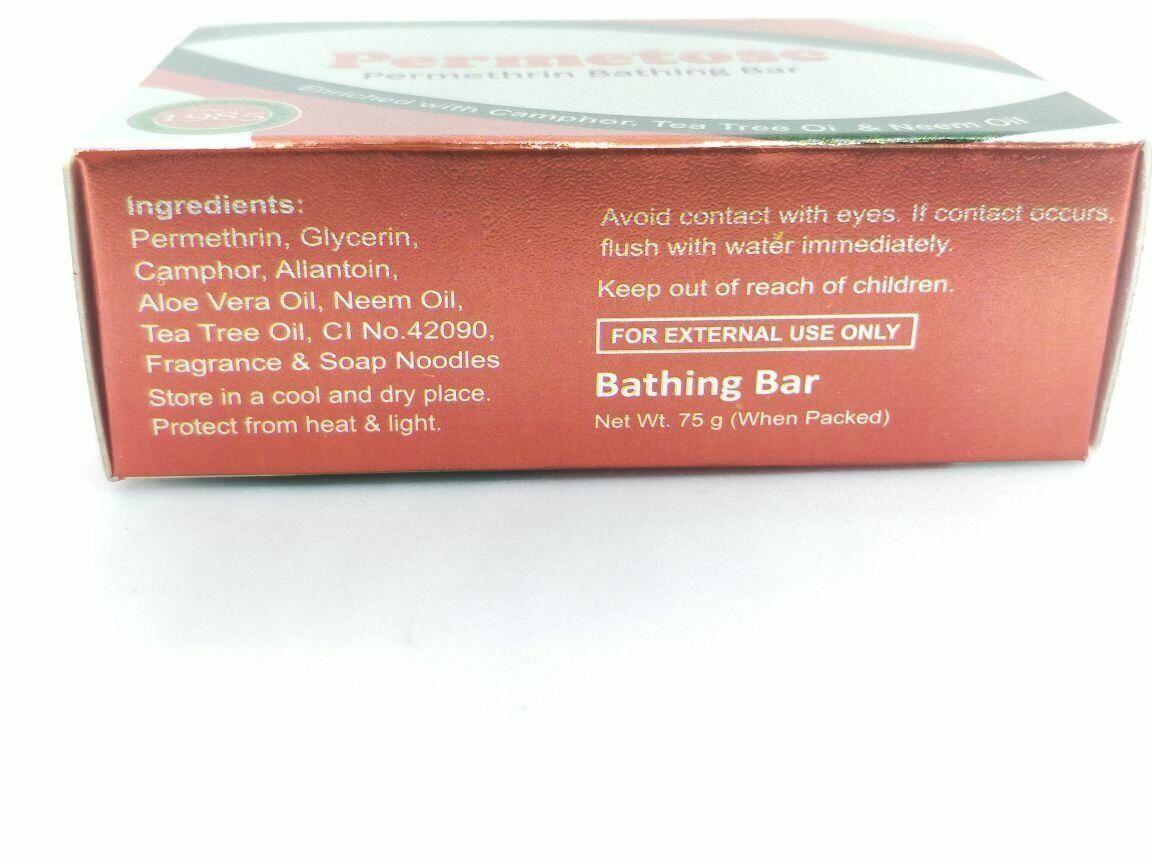 Permethrin 1%  Soap w/w 75 Gm for Scabies