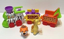 Fisher Price Little People Musical Animal Safari Zoo Train with Giraffe Tiger - $13.59
