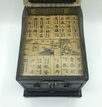 Vintage Wooden Chinese Asian Jewelry Box Chest w/ Mirror Apothecary image 5