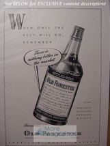 RARE 1942 Esquire Advertisement OLD FORESTER Kentucky Straight Bourbon W... - $9.00