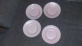 Franciscan Ware Coronado Coral swirl Luncheon set of 4 California USA - $10.88