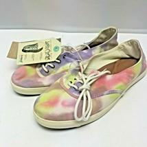 Reef Bella Costas Pink Purple Yellow Tie Dye Flat Tennis Sneakers Shoes ... - $53.99