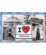 I ❤ Pittsburgh Civic Arena Three Rivers Stadium Incline Vintage Magnet P... - $9.49