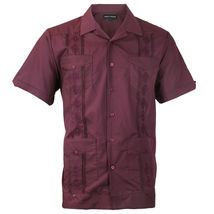 Alberto Cardinali Men's Guayabera Short Sleeve Cuban Casual Dress Shirt image 9