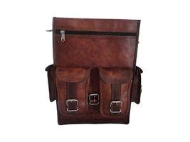 Men's vintage Leather backpack rucksack bag laptop casual travel school bags image 6