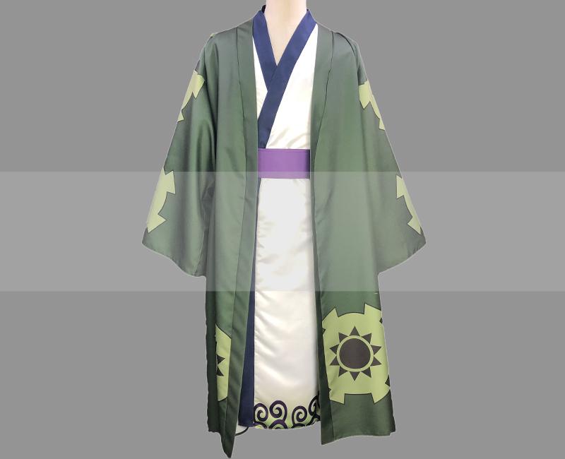 One Piece Wano Country Arc Roronoa Zoro Yukata Cosplay Costume for Sale