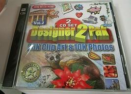 Software PC Designer 2 pak Volume 2 25k Clip Art & 10K Photos 2000 - $12.86