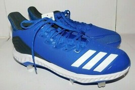 Adidas Icon Bounce Blue Baseball Cleats Shoes Size 10 Brand New - $40.00