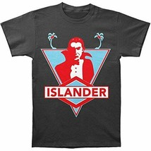 Islander Men's Dracula Vampire Blood Sucker T-shirt Grey - $19.79