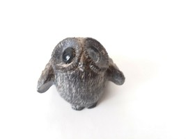 """Small Black Baby Owl with Big Eyes Resin/Stone? 3"""" Tall 2"""" Wide 2"""" Deep - $9.49"""