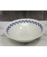 Rare Hungary Alfoldi Porcelain Dewdrop Pattern Blue Dots Bowl Mid Century Modern - $31.68